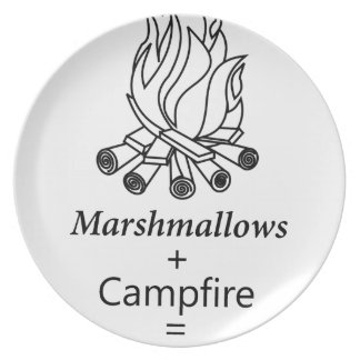 Marshmallows + Campfire = Yay! Plate
