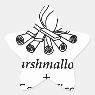 Marshmallows + Campfire = Yay! Star Sticker
