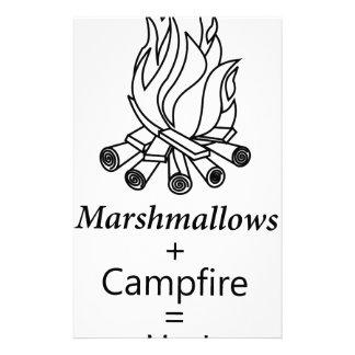 Marshmallows + Campfire = Yay! Stationery