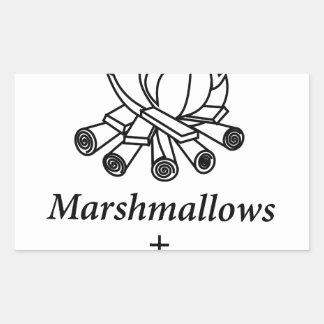 Marshmallows + Campfire = Yay! Sticker
