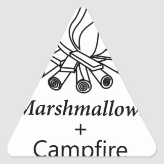 Marshmallows + Campfire = Yay! Triangle Sticker