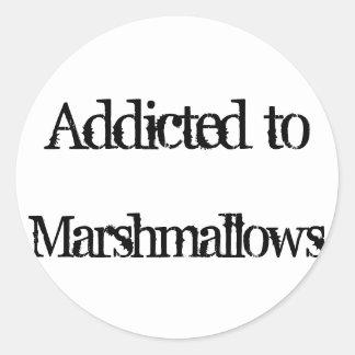 Marshmallows Round Sticker