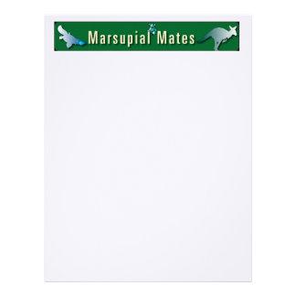 "Marsupial Mates 8.5"" x 11"" Loose Leaf Paper"