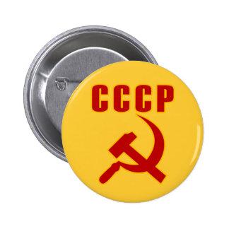 marteau et faucille de l'URSS de cccp Macaron Rond 5 Cm