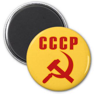 marteau et faucille de l'URSS de cccp Magnet Rond 8 Cm