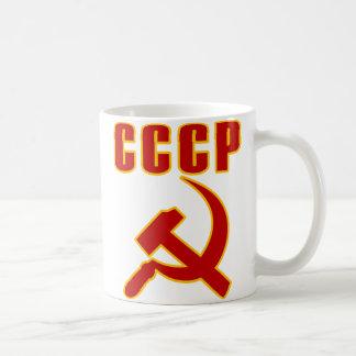 marteau et faucille de l'URSS de cccp Mug Blanc