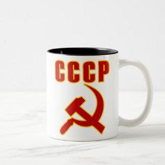 marteau et faucille de l'URSS de cccp Tasse