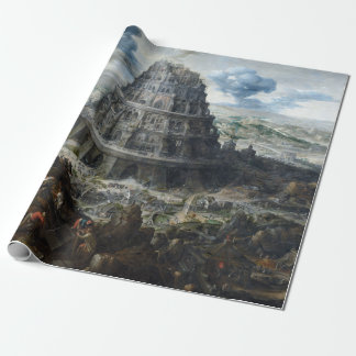 Marten van Valckenborch The Tower of Babel Wrapping Paper