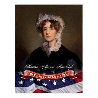 Martha Jefferson Randolph, First Lady of the U.S. Postcard