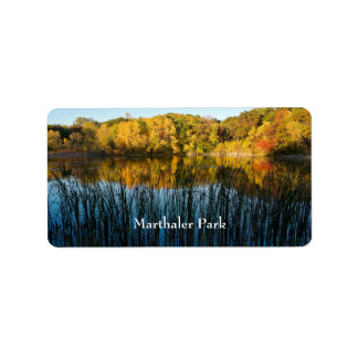 Marthaler Park Autumn Reflections Label