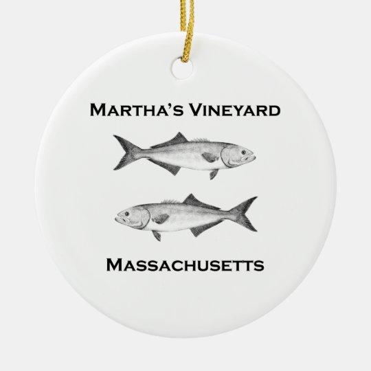 Martha's Vineyard Bluefish Ceramic Ornament