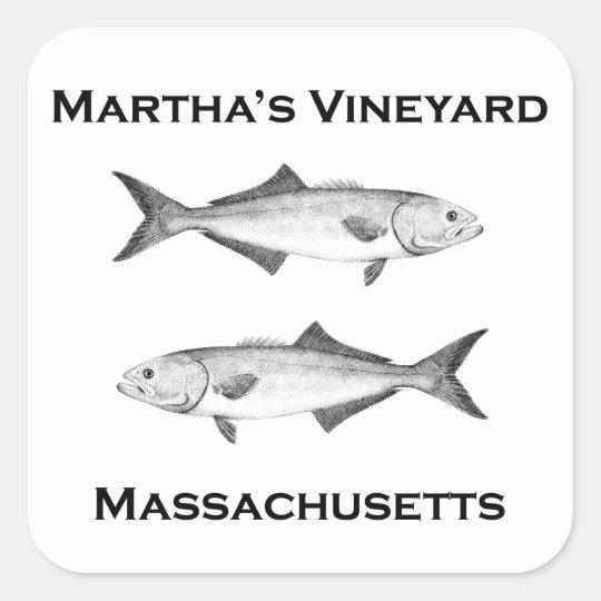 Martha's Vineyard Bluefish Square Sticker