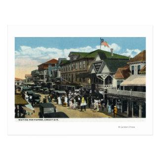 Martha's Vineyard, Circuit Avenue Scene Postcard