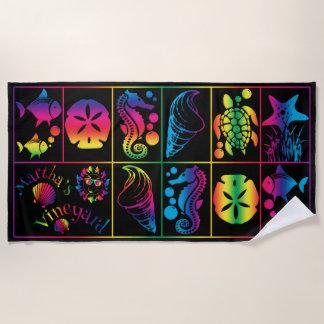 Martha's Vineyard Colorful Beach Towel Design