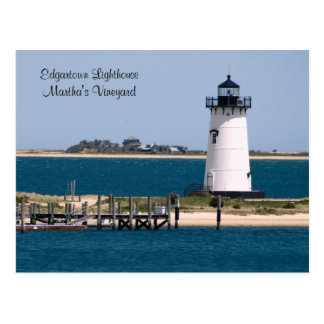 martha's Vineyard, Edgartown Lighthouse Post Card