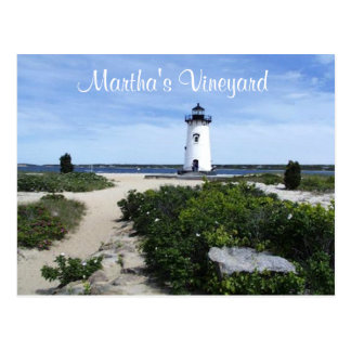 Martha's Vineyard Edgartown Lighthouse Post Card