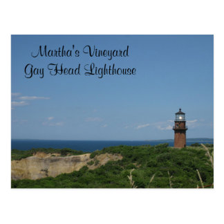 Martha's Vineyard Gay Head Light House Postcard