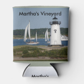 Martha's Vineyard Lighthouse on Can Cooler
