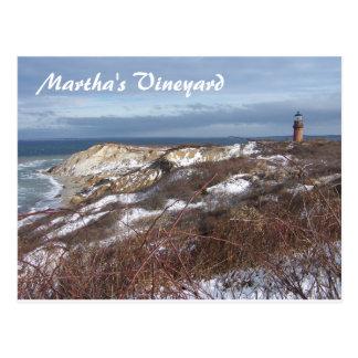 Martha's Vineyard Lighthouse Post Card