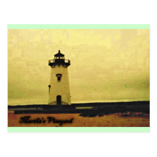 Marthas Vineyard Lighthouse Postcard