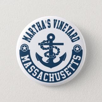 Martha's Vineyard Massachusetts 2 Inch Round Button