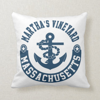 Martha's Vineyard Massachusetts Throw Pillow