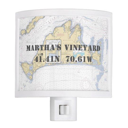 Martha's Vineyard Nautical Chart Coordinates Nite Lites