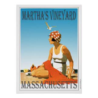 Martha's Vineyard on The Beach Poster