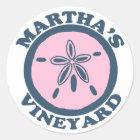 """Martha's Vineyard """"Sand Dollar"""" Design. Classic Round Sticker"""
