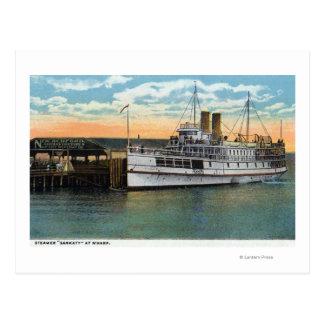 Martha's Vineyard, Sankaty Steamer at Wharf Postcard