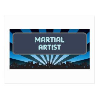 Martial Artist Marquee Postcard