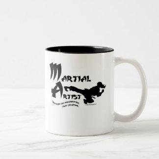 Martial Artist Two-Tone Coffee Mug