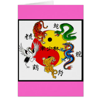 MARTIAL ARTS 5 ANIMALS GREETING CARDS