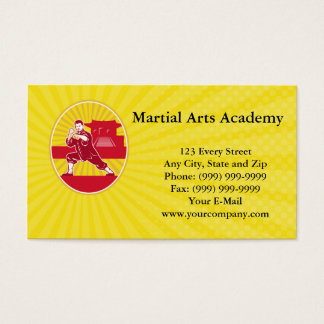 Martial Arts Academy Business card