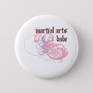 Martial Arts Babe 2 Inch Round Button