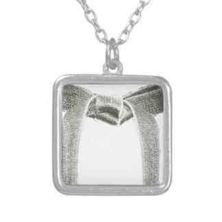 Martial Arts Belt Design Silver Plated Necklace