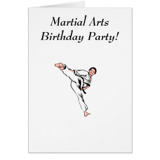 Martial Arts Birthday Party Card