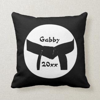 Martial Arts Black Belt Basic Throw Pillow