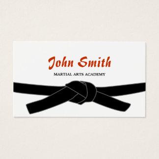 Martial Arts Black Belt Dojo Professional Business Card