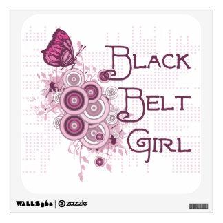 Martial Arts Black Belt Girl Wall Decal