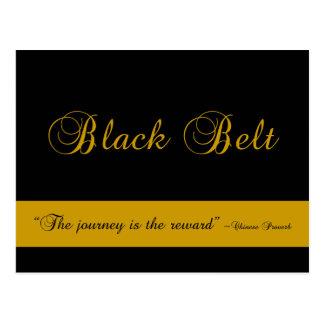 Martial Arts Black Belt Journey Congratulations Postcard