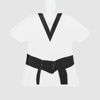Martial Arts Black Belt Uniform Ornament