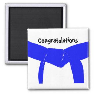 Martial Arts Blue Belt Congratulations Square Magnet