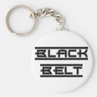 Martial Arts Bold Black Belt Keychain