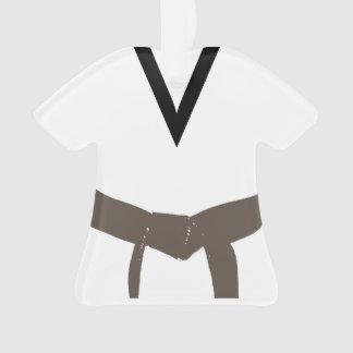 Martial Arts Brown Belt Uniform Ornament