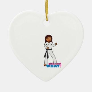 Martial Arts Ceramic Heart Ornament