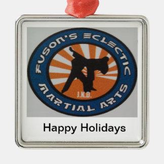 Martial Arts Christmas Holiday Ornamnet Metal Ornament