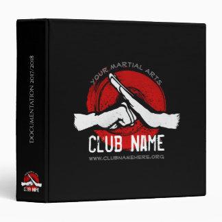 Martial Arts Club 3 Ring Binder