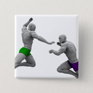 Martial Arts Concept for Fighting and Protection 2 Inch Square Button