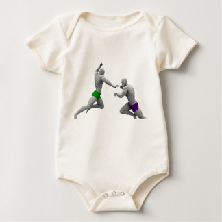 Martial Arts Concept for Fighting and Protection Baby Bodysuit